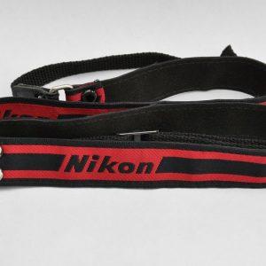 Nikon Schulterriemen Rot-Schwarz Schmal - TOP -