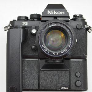 Nikon Kameraset F3 mit MD-4 und 50mm 1.4 AI - TOP - geringste Abnutzungsspuren. Lichtdichtungen, Dämpfer und Okular sind neu