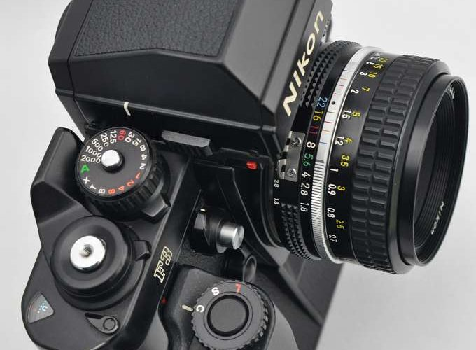 Nikon F3HP mit Motor MD-4 und 50mm AIS