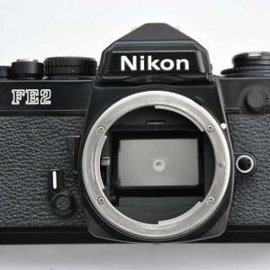 Nikon-FE2 schwarz geringe Gebrauchsspuren - Zustand A-/A