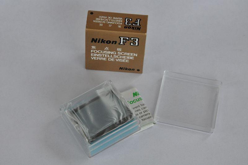 Nikon F3 Einstellscheibe Type J - TOP – besonders hilfreich bei lichtschwachen Zooms