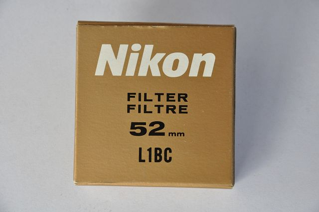 Nikon Filter 52mm L1 BC ohne Kratzer in OVP. Deshalb im Zustand A+