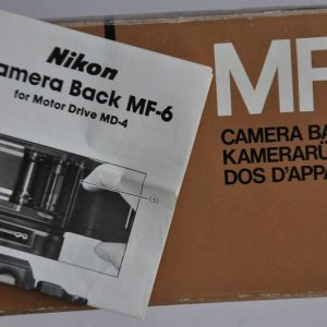 Nikon Kamerarückwand MF-6 ist im Zustand A.