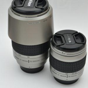 Nikon Nikkor 70-300mm f/4-5.6G AF + 28-80mm 3.3-5.6 G AF