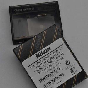 Nikon Einstellscheibe Typ K3 sorgt für ein helles Sucherbild