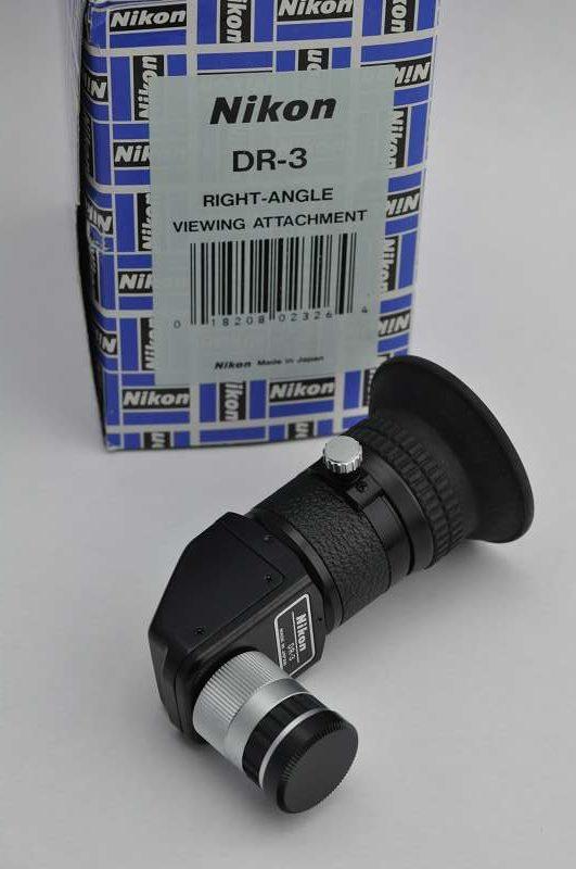 Nikon Winkelsucher DR-3 zeigt ein aufrechtstehendes, seitenrichtiges Bild - Zustand A/A+ Top - Nikon Winkelsucher DR-3 für Nikon FE/FM/FA/F3