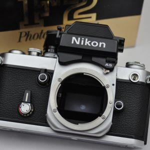 Nikon F2AS wurde von 1971 bis 1980 gebaut - mit austauschbaren AS
